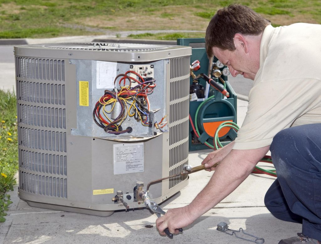 installing the air and heat conditioner